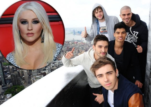 The Wanted, inset: Christina Aguilera -- Getty Images