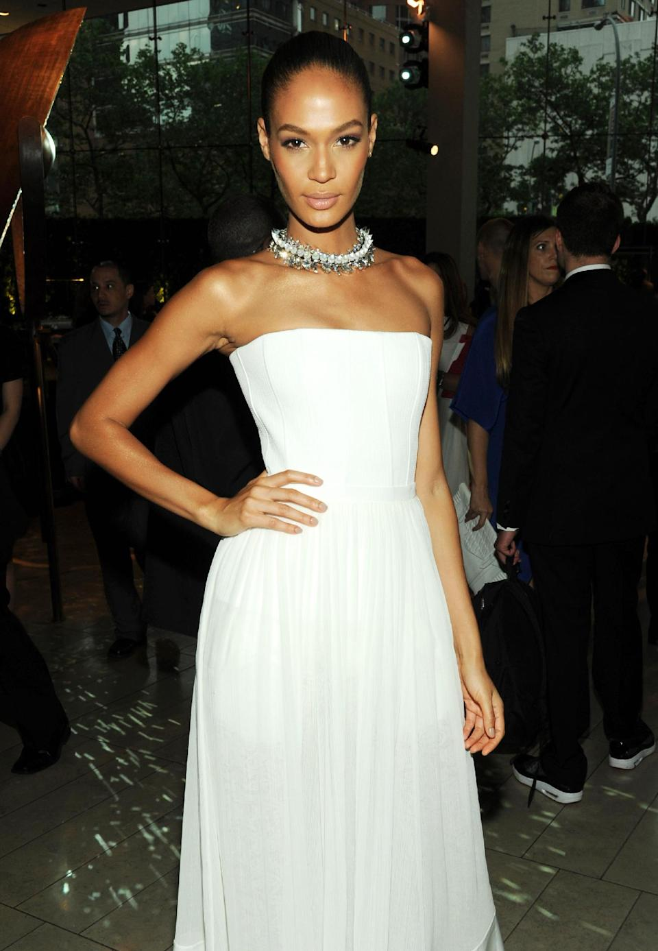 Model Joan Smalls attends the 2013 CFDA Fashion Awards at Alice Tully Hall on Monday, June 3, 2013 in New York. (Photo by Evan Agostini/Invision/AP)