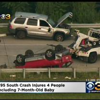 4 Injured, Including Baby, In I-95 Crash