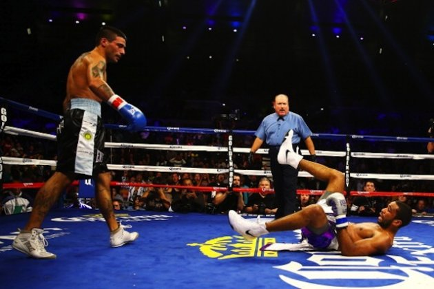 Lucas Matthysse has huge power in both hands, although it was the left hook that took down Lamont Peterson. (Getty Images)
