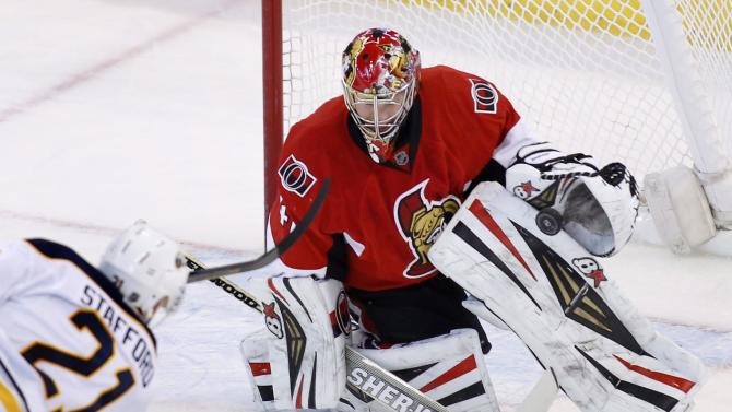 Anderson makes 40 saves, Senators top Sabres 2-1