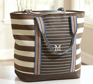 Vilamoura Striped Tote