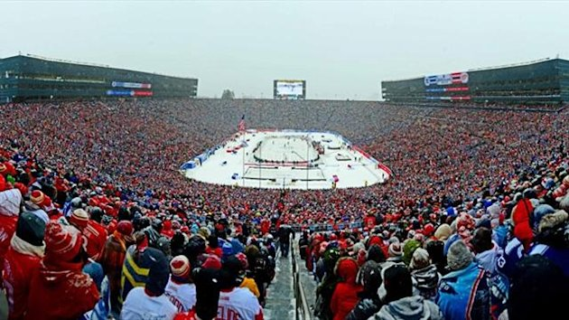 A general view of Michigan Stadium during the 2014 Winter Classic between the Toronto Maple Leafs and Detroit Red Wings (Andrew Weber-USA TODAY Sports/Reuters)