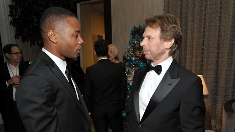 Cuba Gooding Jr., left, and Jerry Bruckheimer attend the presentation of the 27th Annual American Cinematheque Award to Jerry Bruckheimer on Thursday, Dec. 12, 2013, in Beverly Hills, Calif. (Photo by John Shearer/Invision for American Cinematheque/AP Images)