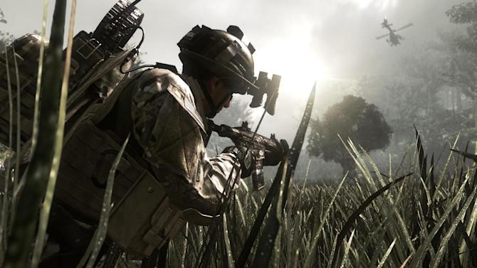 "This video game image released by Activision shows a scene from ""Call of Duty: Ghosts,""  the tenth installment in the Call of Duty series. Microsoft is seeking to stay ahead of rivals in announcing that new content that can be downloaded for the popular ""Call of Duty"" game will launch first on Xbox One. (AP Photo/Activision)"