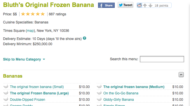 'Arrested Development': Bluth's Original Frozen Banana Stand Hits Seamless