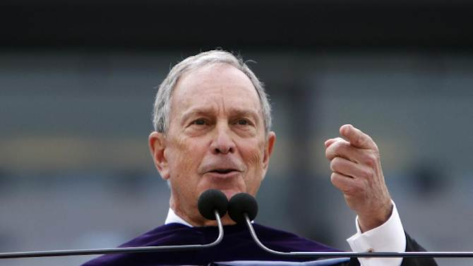 New York Mayor Michael Bloomberg speaks at UNC-Chapel Hill's commencement in Chapel Hill, N.C. on Sunday, May 13, 2012. Bloomberg told graduates that last week's gay marriage vote shows there is still a lot of work to be done for civil rights in this country. (AP Photo/The News & Observer, Takaaki Iwabu) MANDATORY CREDIT
