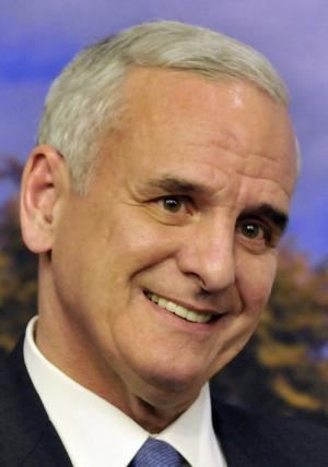 Former Sen. Mark Dayton addresses the media at the State Capitol Wednesday, Nov. 3, 2010 in St. Paul, Minn., where he expressed belief that he won the gubernatorial race against Republican Tom Emmer which is yet to be decided and faces a potential ballot recount. (AP Photo/Jim Mone)