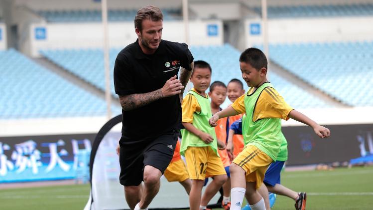 David Beckham Visits China - Day 2
