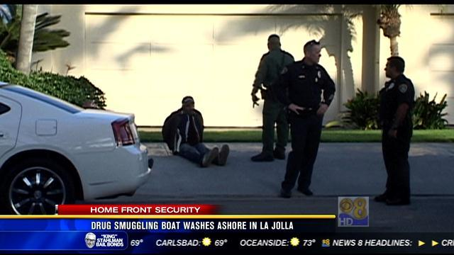 Drug smuggling boat washes ashore in La Jolla