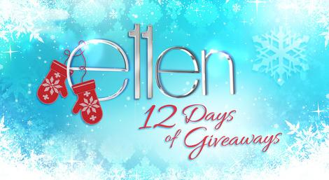 Win prizes from every single day of Ellen's 12 Days of Giveaways!