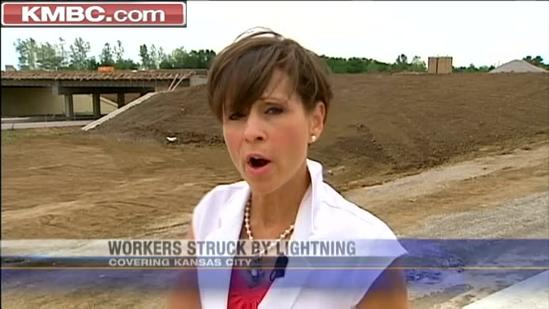 Construction workers go to hospital after lightning strike