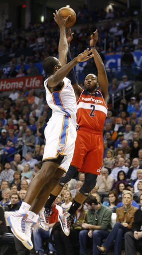 Westbrook, Durant lead Thunder to rout of Wizards