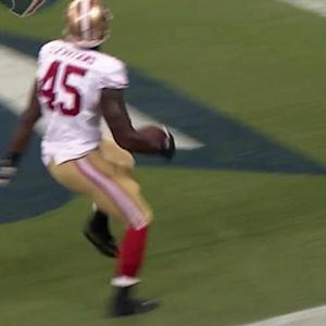 San Francisco 49ers quarterback Blaine Gabbert throws TD pass to Asante Cleveland