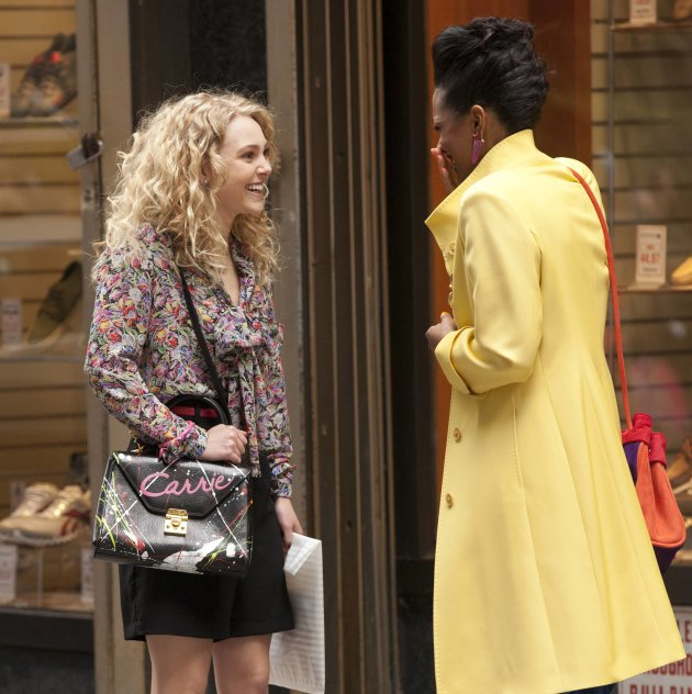AnnaSophia Robb and Freema Agyeman on the set of &amp;#39;The Carrie Diaries&amp;#39; in ManhattanNew York City, USA - 25.03.12**Not available for publication in USA magazines.  Available for publication in U