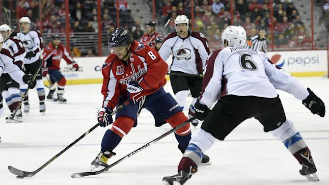Ovechkin's goal gives Capitals 2-1 win over Avalanche