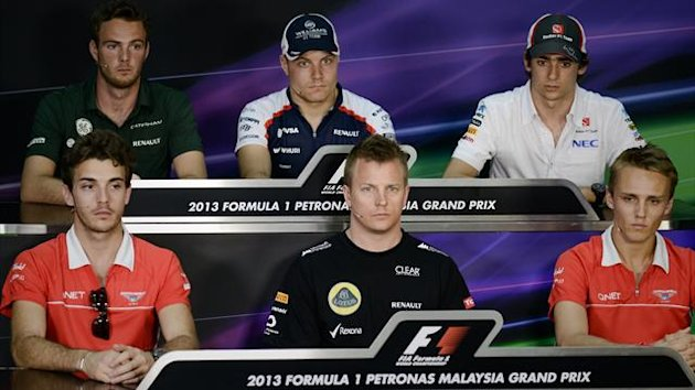 Malaysia GP press conference 2013 (AFP)