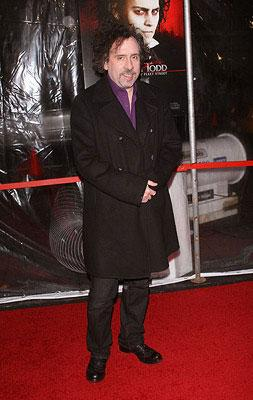 Director Tim Burton at the New York City premiere of DreamWorks Pictures' Sweeney Todd: The Demon Barber of Fleet Street