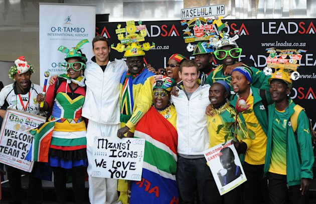 South Africa Olympic Team Arrive Back In South Africa