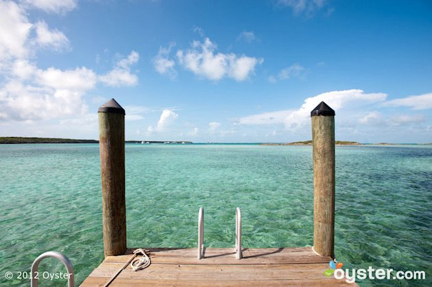 Dock at the Fowl Cay Resort -- Bahamas; Dive in!