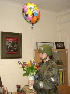 I'll never forget the birthday I spent in chemical warfare gear.
