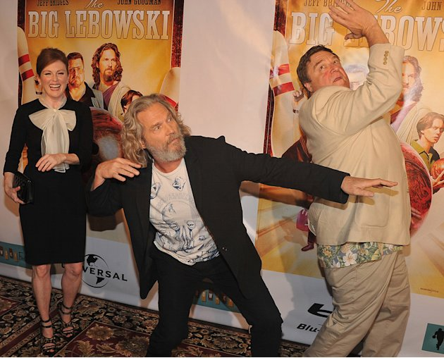 The Big Lebowski Blu Ray Party 2011 Julianne Moore Jeff Bridges John Goodman