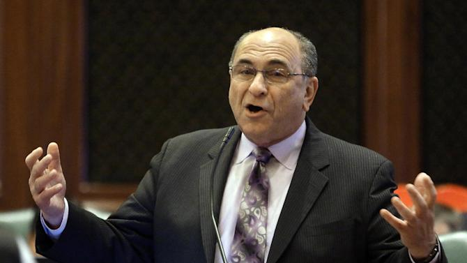 Illinois Rep. Louis Lang, D-Skokie, argues medical marijuana legislation while on the House floor during session at the Illinois State Capitol Wednesday, April 17, 2013, in Springfield Ill. (AP Photo/Seth Perlman)