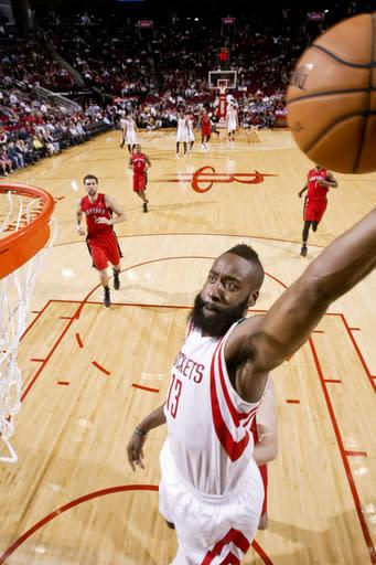Harden, Patterson help Rockets top Raptors 117-101