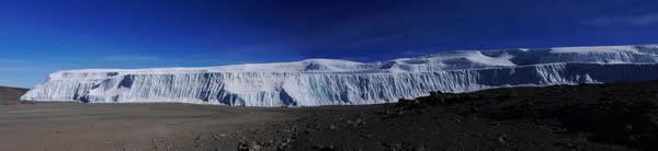 Kilimanjaro Ice Field Shrinks and Splits