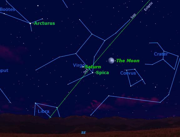 Saturn, Moon and Star Offer Triple Night Sky Treat Thursday