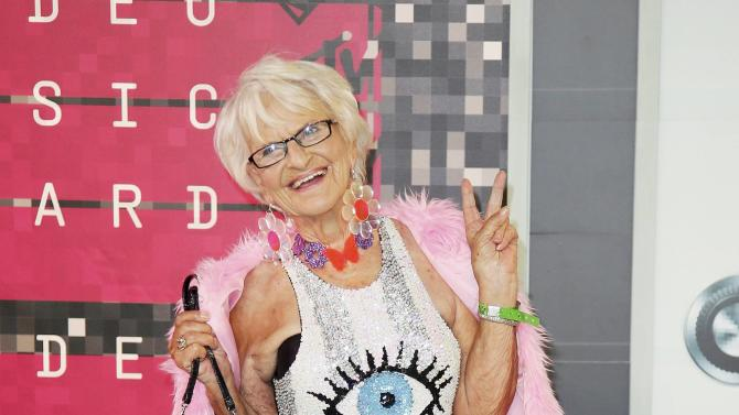 Baddiewinkle arrives at the 2015 MTV Video Music Awards in Los Angeles