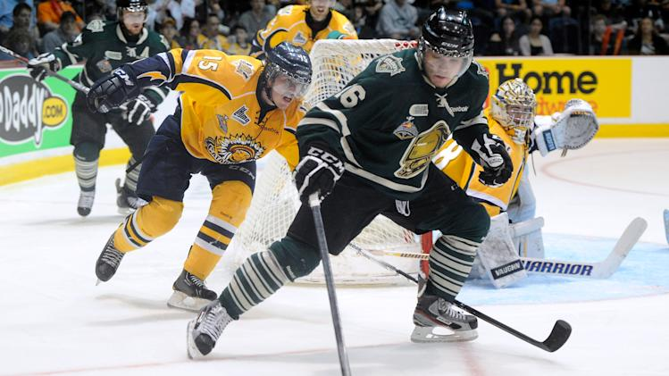 Max Domi of the London Knights