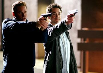 Val Kilmer and Robert Downey Jr. in Warner Bros. Pictures' Kiss Kiss, Bang Bang