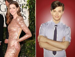 Anne Hathaway, Chris Colfer as Kurt Hummel -- Getty Images