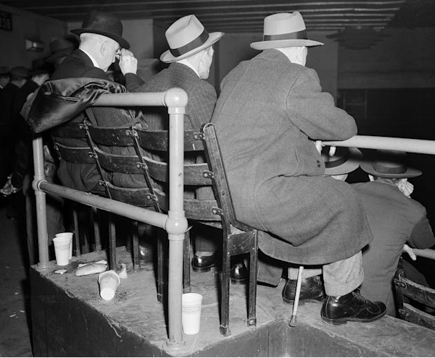 Spectators At Madison Square Garden