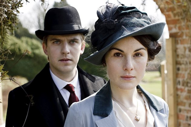 "Dan Stevens stars as Matthew Crawley and Michelle Dockery stars as Lady Mary Crawley in ""Downton Abbey."""