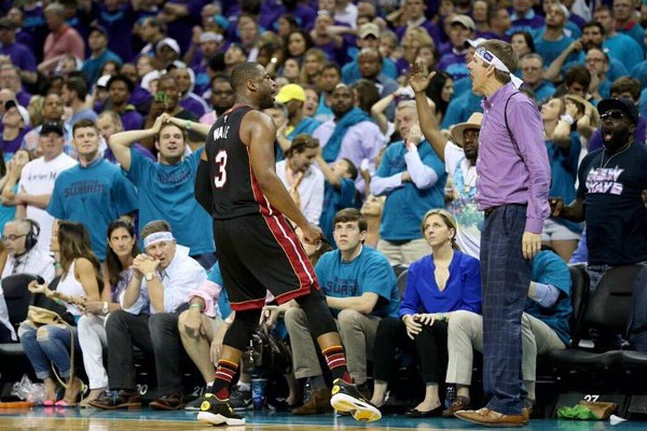 Purple Shirt Man heckled Dwyane Wade, took a loss for his efforts
