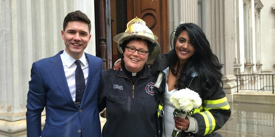 FDNY Chaplain Saves the Day for Young Bride and Groom