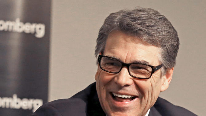 Former Texas Governor and potential presidential candidate Rick Perry speaks at a breakfast meeting Tuesday, March 24, 2015, in Houston. (AP Photo/Pat Sullivan)
