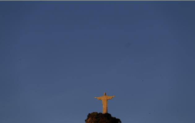 The statue of Christ the Redeemer is seen in Rio de Janeiro