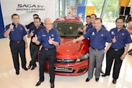 The launch of the Proton Saga SV