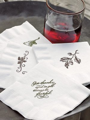 Put Your Stamp on Cocktail Napkins