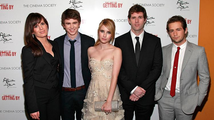 The Art of Getting By NYC Premiere 2011 Elizabeth Reaser Freddie Highmore Emma Roberts Gavin Wiesen Michael Angarno