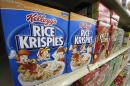 FILE - In a Wednesday, July 18, 2012, file photo, Kellogg's cereals are on display at a Pittsburgh grocery market. Kellogg reports financial results Thursday, May 5, 2016. (AP Photo/Gene J. Puskar, File)