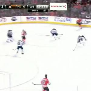 Michael Hutchinson Save on Luke Schenn (09:51/3rd)