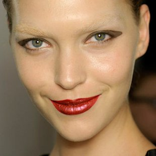 YSL SS12 Backstage: Bright Lips