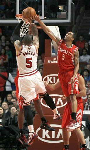 Dragic scores 21 as Rockets rally past Bulls 99-93