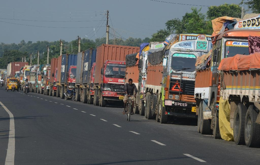 Trucks cross Nepal border as blocked checkpoint reopens