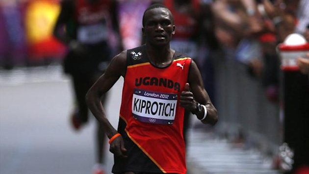 Uganda's Stephen Kiprotich competes during the men's marathon in the London 2012 Olympic Games at The Mall (Reuters)