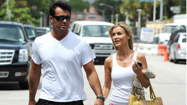 Joanna Krupa and Romain Zago are sighted in Miami on April 14, 2012 -- Getty Premium